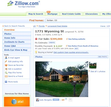 301 moved permanently for Zillow site