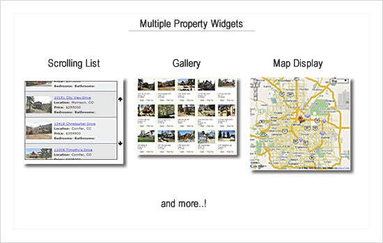Property widgets