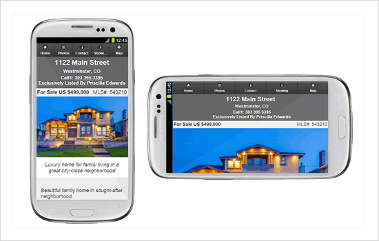 Mobile property websites for real estate marketing